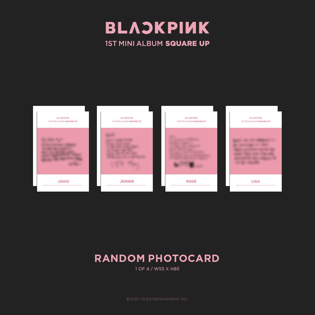 BLACKPINK Album Square Up Photos and Details Contents Pink Version