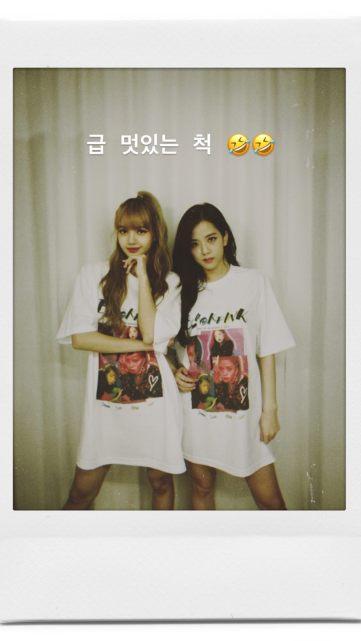 BLACKPINK UPDATE Jisoo Instagram Story 26 July 2018 with Lisa 4