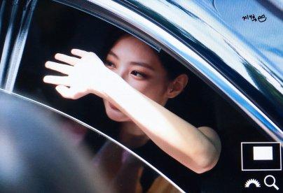blackpink jennie car photos leaving sbs inkigayo july 8, 2018 fantaken 4