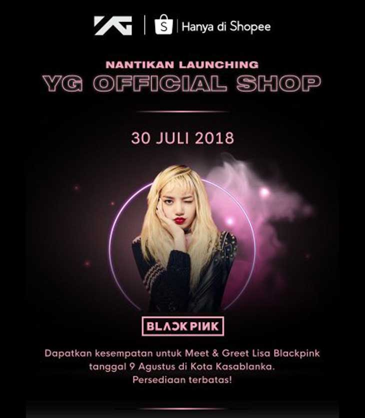 Blackpink lisa to hold meet greet in indonesia for yg shop launch m4hsunfo