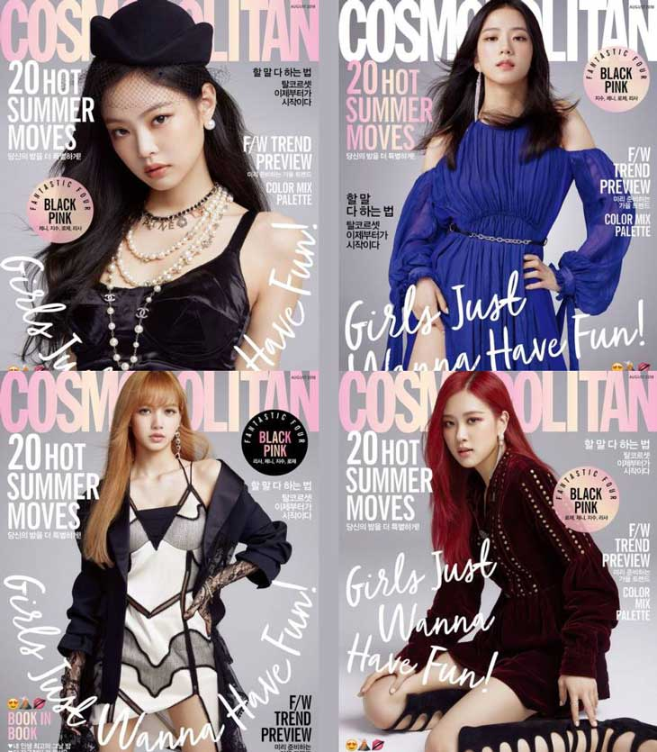 BLACKPINK For The New Cover Cosmopolitan Magazine August Issue