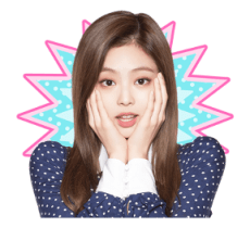 BLACKPINK Jennie LINE Sticker 2018 Photo 6