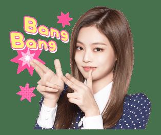 BLACKPINK Jennie LINE Sticker 2018 Photo