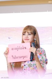 BLACKPINK LISA moonshot central world fansign event bangkok thailand 167
