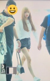 BLACKPINK Lisa Airport Photo 8 August 2018 Incheon to Jakarta Indonesia 13