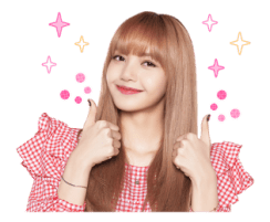BLACKPINK Lisa LINE Sticker 2018 Photo 3