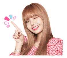 BLACKPINK Lisa LINE Sticker 2018 Photo 5