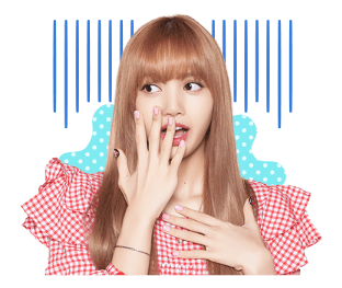 BLACKPINK Lisa LINE Sticker 2018 Photo 8