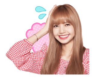 BLACKPINK Lisa LINE Sticker 2018 Photo 9