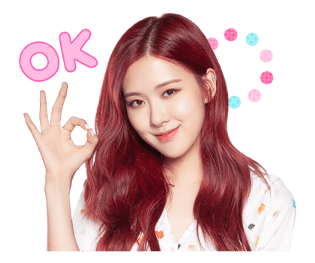 BLACKPINK Rose LINE Sticker 2018 Photo 2