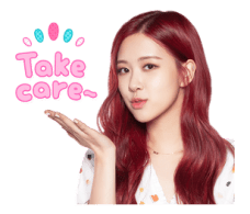 BLACKPINK Rose LINE Sticker 2018 Photo 4