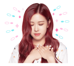 BLACKPINK Rose LINE Sticker 2018 Photo 5