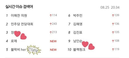 blackpink rose amazing saturday naver trending 2