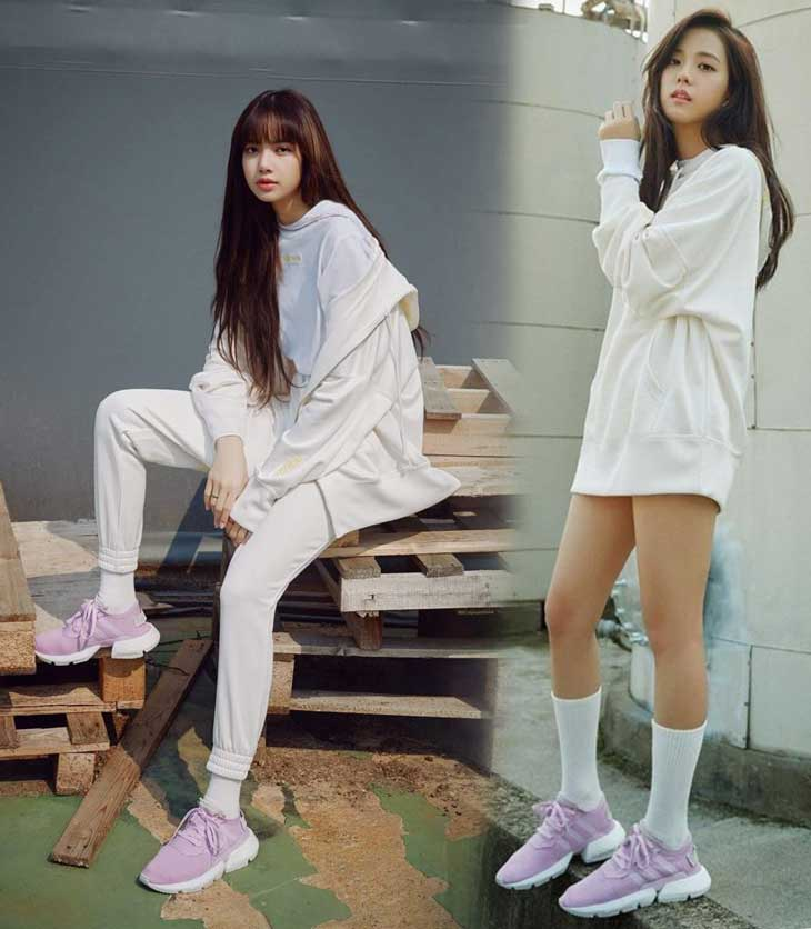 See New Photos and Video of BLACKPINK Lisa and Jisoo for Adidas POD-S3.1