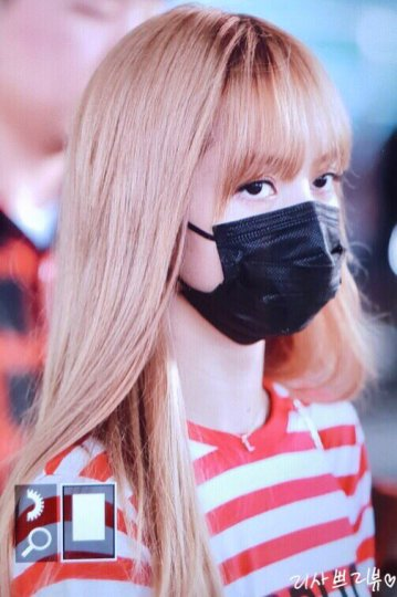 1-BLACKPINK Lisa Airport Photo Incheon Seoul From New York