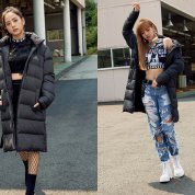 BLACKPINK Jisoo Lisa Adidas Long Padded Coats