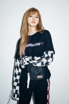 15-BLACKPINK Lisa X-girl Japan Nonagon Collaboration