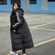 2-BLACKPINK ADIDAS Winter Outfit Long Padded Jackets