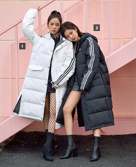 BLACKPINK Jisoo Jennie Jensoo Adidas Long Padded Coats