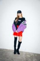 20-BLACKPINK Lisa X-girl Japan Nonagon Collaboration