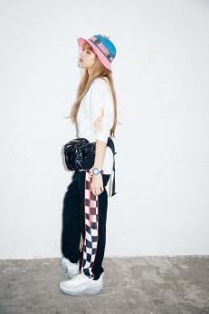 24-BLACKPINK Lisa X-girl Japan Nonagon Collaboration