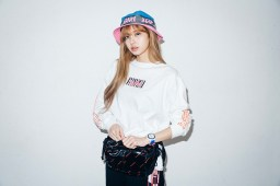 26-BLACKPINK Lisa X-girl Japan Nonagon Collaboration