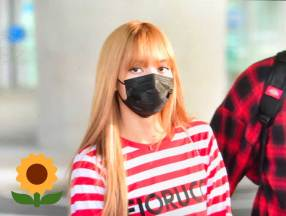 3-BLACKPINK Lisa Airport Photo Incheon Seoul From New York
