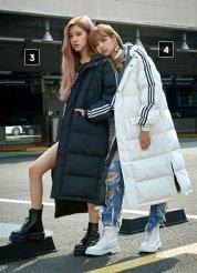 BLACKPINK Rose Lisa Chaelisa Adidas Long Padded Coats