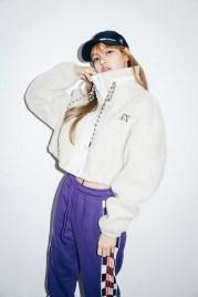 31-BLACKPINK Lisa X-girl Japan Nonagon Collaboration