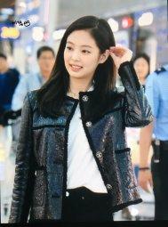52-BLACKPINK Jennie Airport Photos Incheon to Paris Fashion Week