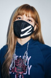 55-BLACKPINK Lisa X-girl Japan Nonagon Collaboration