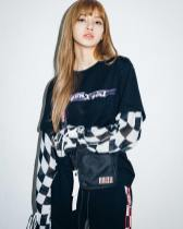6-BLACKPINK Lisa X-girl Japan Nonagon Collaboration