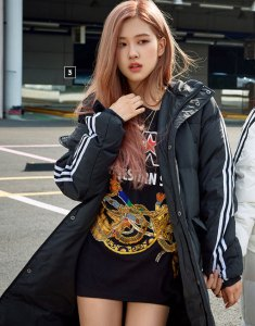 BLACKPINK Rose Adidas Long Padded Coats
