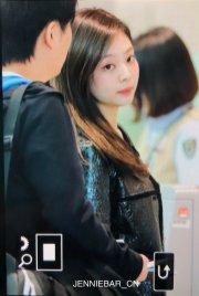 65-BLACKPINK Jennie Airport Photos Incheon to Paris Fashion Week