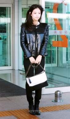 7-BLACKPINK Jennie Airport Photos Incheon to France Paris Fashion Week