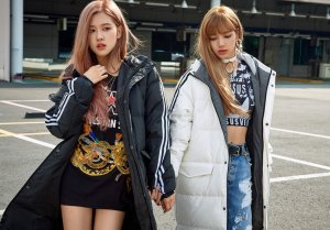 BLACKPINK Rose Lisa Chaelisa Adidas Long Padded Coats