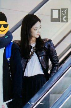 96-BLACKPINK Jennie Airport Photos Incheon to Paris Fashion Week