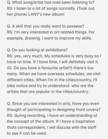 1-English Translation BLACKPINK Rose Interview GRAZIA China