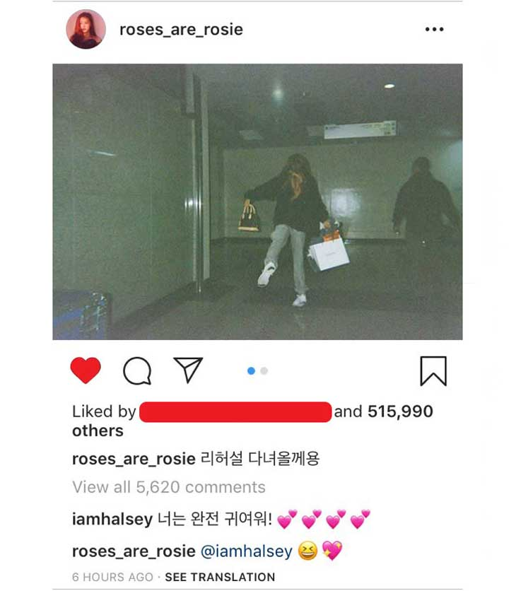 BLACKPINK-ROSE-HALSEY-KOREAN-COMMENT