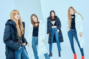 10-HQ-BLACKPINK GUESS Winter Coat Jacket Collection