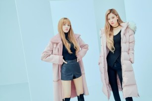 13-HQ-BLACKPINK GUESS Winter Coat Jacket Collection
