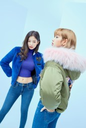 9-HQ-BLACKPINK GUESS Winter Coat Jacket Collection