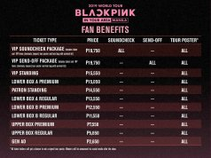 Fan Benefits BLACKPINK concert manila Philippines