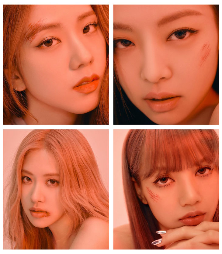 cover HQ BLACKPINK Kill This Love Photocard with bruises scar makeup
