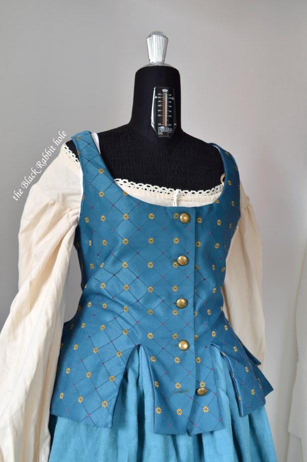 blue skirt waistcoat