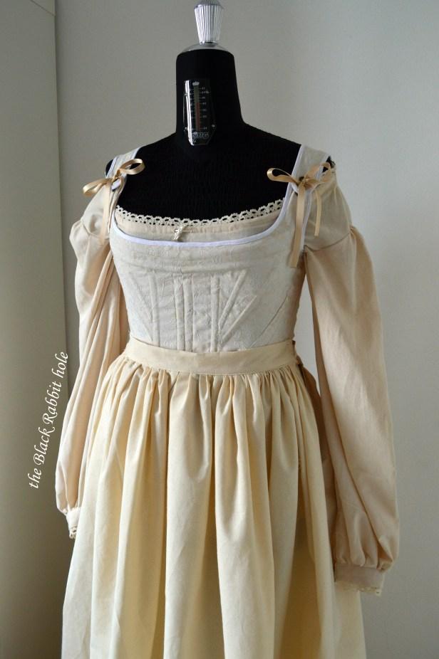 18th century petticoat and corset