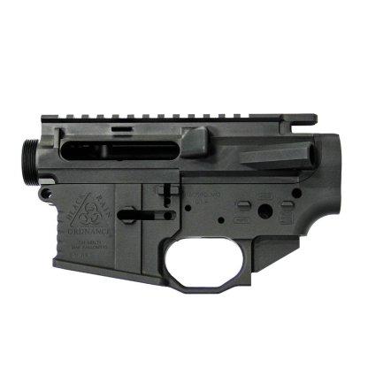 Left Handed Black Rain Ordnance Billet AR15 Receiver Set - Black