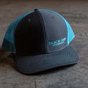 BRO Charcoal and Neon Blue Snapback