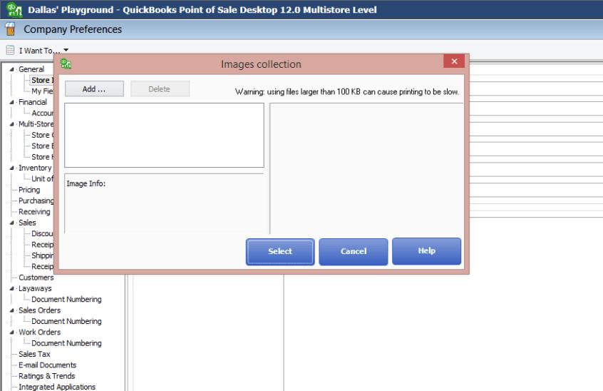 QuickBooks POS Desktop: Add your Logo to Sales Documents