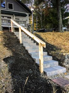 custom block stairs